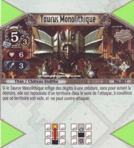The Eye of Judgment Autres jeux de cartes 081 - Peu Commune -  Taurus Monolithique [Biolith Rebellion - Cartes The Eye of judgment]