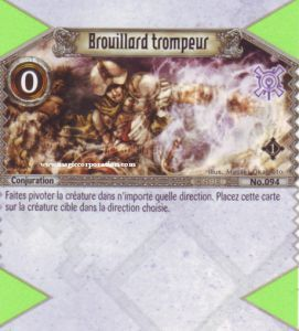The Eye of Judgment Autres jeux de cartes 094 - Commune -  Brouillard trompeur [Biolith Rebellion - Cartes The Eye of judgment]