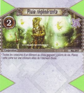The Eye of Judgment Autres jeux de cartes 097 - Commune -  Pluie régénérante [Biolith Rebellion - Cartes The Eye of judgment]