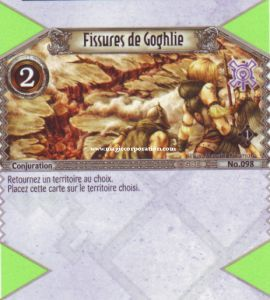 The Eye of Judgment Autres jeux de cartes 098 - Commune -  Fissures de Goghlie [Biolith Rebellion - Cartes The Eye of judgment]