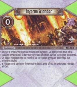 The Eye of Judgment 103 - Peu Commune -  Inferno Sciondar [Biolith Rebellion - Cartes The Eye of judgment]