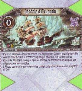 The Eye of Judgment Autres jeux de cartes 104 - Peu Commune -  Débâcle de Okunada [Biolith Rebellion - Cartes The Eye of judgment]