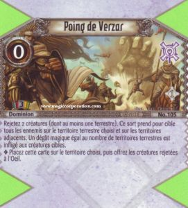 The Eye of Judgment Autres jeux de cartes 105 - Peu Commune -  Poing de Verzar [Biolith Rebellion - Cartes The Eye of judgment]