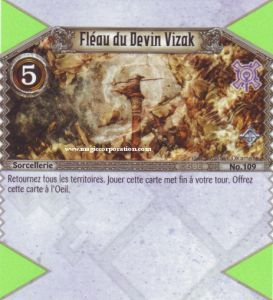 The Eye of Judgment Autres jeux de cartes 109 - Rare -  Fléau du Devin Vizak [Biolith Rebellion - Cartes The Eye of judgment]