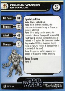 Star Wars Miniatures - The Force Unleashed Star Wars Miniatures 50 - Felucian Warrior on Rancor [Star Wars Miniatures - The Force Unleashed] [Carte Seule]