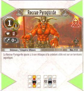 The Eye of Judgment Autres jeux de cartes 112 - Commune - Recrue pyrogarde [Biolith Rebellion 2 - Cartes The Eye of judgment]