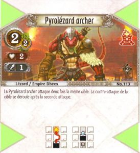 The Eye of Judgment Autres jeux de cartes 113 - Commune - Pyrolézard archer [Biolith Rebellion 2 - Cartes The Eye of judgment]