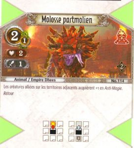 The Eye of Judgment Autres jeux de cartes 114 - Commune - Molosse partmolien [Biolith Rebellion 2 - Cartes The Eye of judgment]