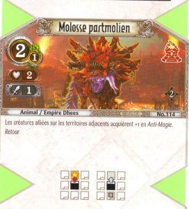 The Eye of Judgment Autres jeux de cartes 114 - Commune - Molosse partmolien [Biolith Rebellion 2 - Cartes The Eye of judgment]