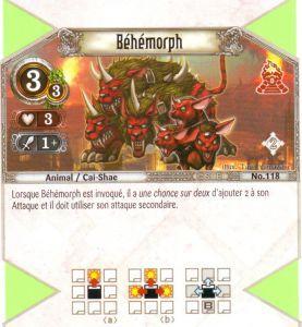 The Eye of Judgment Autres jeux de cartes 118 - Peu Commune - Béhémorph [Biolith Rebellion 2 - Cartes The Eye of judgment]