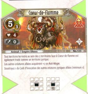 The Eye of Judgment Autres jeux de cartes 123 - Peu Commune - Coeur-de-flamme [Biolith Rebellion 2 - Cartes The Eye of judgment]