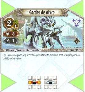 The Eye of Judgment Autres jeux de cartes 129 - Commune - Gardes de givre [Biolith Rebellion 2 - Cartes The Eye of judgment]