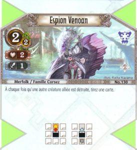 The Eye of Judgment Autres jeux de cartes 130 - Peu Commune - Espion Venoan [Biolith Rebellion 2 - Cartes The Eye of judgment]