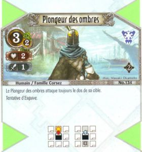 The Eye of Judgment Autres jeux de cartes 134 - Commune - Plongeur des ombres [Biolith Rebellion 2 - Cartes The Eye of judgment]