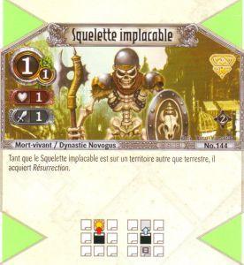 The Eye of Judgment Autres jeux de cartes 144 - Commune - Squelette implacable [Biolith Rebellion 2 - Cartes The Eye of judgment]