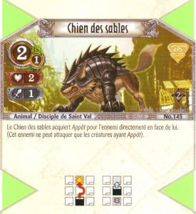 The Eye of Judgment Autres jeux de cartes 145 - Commune - Chien des sables [Biolith Rebellion 2 - Cartes The Eye of judgment]