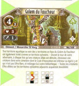 The Eye of Judgment Autres jeux de cartes 168 - Peu Commune - Golem du Faucheur [Biolith Rebellion 2 - Cartes The Eye of judgment]