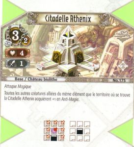 The Eye of Judgment Autres jeux de cartes 175 - Peu Commune - Citadelle Athenix [Biolith Rebellion 2 - Cartes The Eye of judgment]
