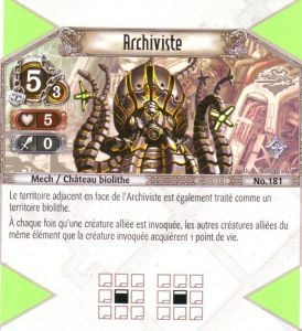 The Eye of Judgment Autres jeux de cartes 181 - Rare - Archiviste [Biolith Rebellion 2 - Cartes The Eye of judgment]