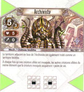 The Eye of Judgment Autres jeux de cartes 181 - Rare - Archiviste [Biolith Rebellion 2 - Cartes The Eye of judgment]