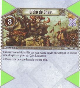 The Eye of Judgment Autres jeux de cartes 195 - Commune - Ordre de Dhees [Biolith Rebellion 2 - Cartes The Eye of judgment]