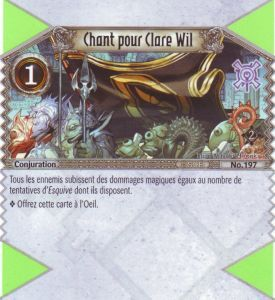 The Eye of Judgment Autres jeux de cartes 197 - Commune - Chant pour Clare Wil [Biolith Rebellion 2 - Cartes The Eye of judgment]