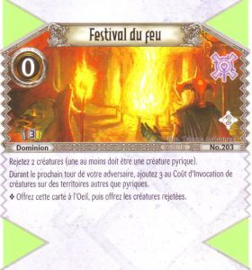 The Eye of Judgment Autres jeux de cartes 203 - Peu Commune - Festival du feu [Biolith Rebellion 2 - Cartes The Eye of judgment]