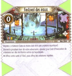 The Eye of Judgment 204 - Peu Commune - Festival du eaux [Biolith Rebellion 2 - Cartes The Eye of judgment]