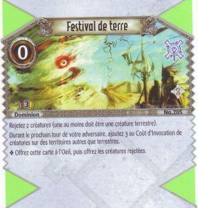 The Eye of Judgment Autres jeux de cartes 205 - Peu Commune - Festival de terre [Biolith Rebellion 2 - Cartes The Eye of judgment]