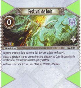 The Eye of Judgment Autres jeux de cartes 206 - Peu Commune - Festival de bois [Biolith Rebellion 2 - Cartes The Eye of judgment]