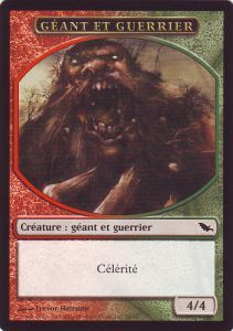 Tokens Magic Magic the Gathering Token/Jeton - Sombrelande - Géant Et Guerrier
