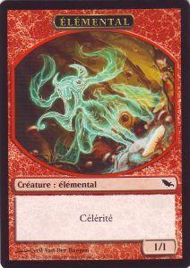 Tokens Magic Accessoires Pour Cartes Token/Jeton - Sombrelande - Elémental Rouge