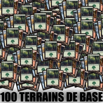 Lot de Cartes Magic the Gathering Lot de 100 terrains de base