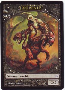 Tokens Magic Magic the Gathering Token/Jeton - Eclats D'alara - Zombie