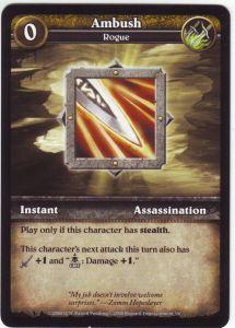 WoW Minis - Cartes à l'unité [Core Set] 35 - Ambush [Cartes WOW miniatures]
