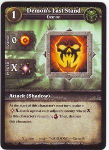 WoW Minis - Cartes à l'unité [Core Set] 74 - Demon's Last Stand [Cartes WOW miniatures]