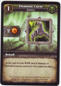 WoW Minis - Cartes à l'unité [Core Set] 75 - Demonic Curse [Cartes WOW miniatures]