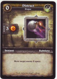 WoW Minis - Cartes à l'unité [Core Set] 38 - Distract [Cartes WOW miniatures]
