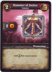 WoW Minis - Cartes à l'unité [Core Set] 24 - Hammer of Justice [Cartes WOW miniatures]