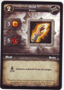 WoW Minis - Cartes à l'unité [Core Set] 27 - Heal [Cartes WOW miniatures]