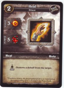 WoW Minis - Cartes à l'unité [Core Set] WoW Miniatures Game 27 - Heal [Cartes WOW miniatures]