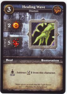 WoW Minis - Cartes à l'unité [Core Set] WoW Miniatures Game 46 - Healing Wave [Cartes WOW miniatures]