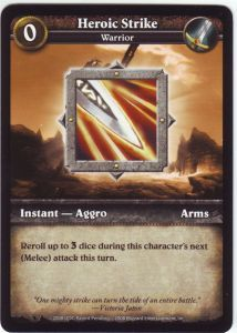 WoW Minis - Cartes à l'unité [Core Set] 63 - Heroic Strike [Cartes WOW miniatures]