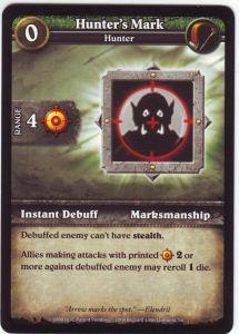 WoW Minis - Cartes à l'unité [Core Set] WoW Miniatures Game 09 - Hunter's Mark [Cartes WOW miniatures]