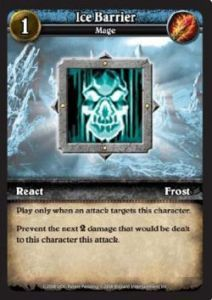 WoW Minis - Cartes à l'unité [Core Set] WoW Miniatures Game 17 - Ice Barrier [Cartes WOW miniatures]