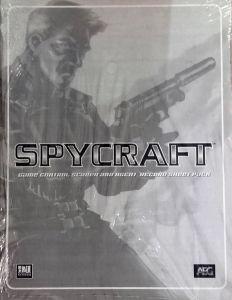 Jeux de rôle VO Jeux de rôle RPG: Spycraft - Game Control Screen and Agent Record Sheet Pack