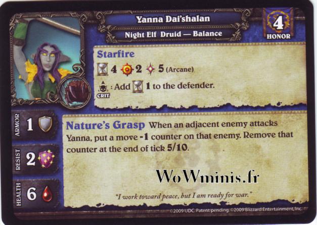 WoW Minis - Figurines à l'unité [Spoils of War] WoW Miniatures Game 14 - Yanna Dai'shalan [Figurines WOW minis: Spoils of War]