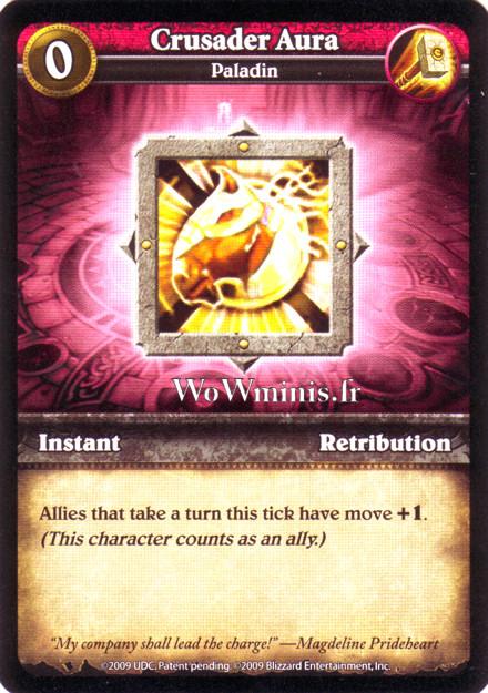 WoW Minis - Cartes à l'unité [Spoils of War] WoW Miniatures Game 03 - Crusader Aura [Cartes WOW minis: Spoils of War]