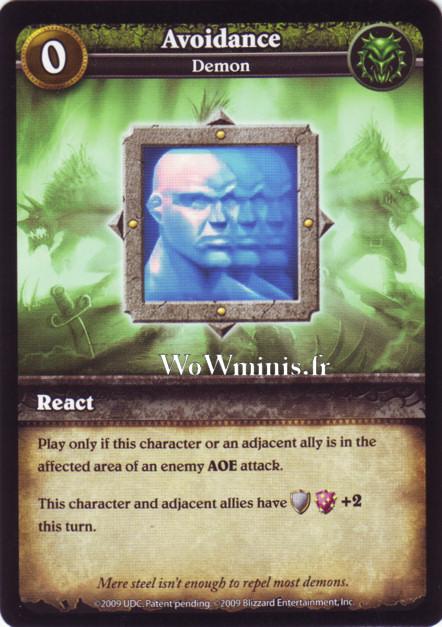 WoW Minis - Cartes à l'unité [Spoils of War] WoW Miniatures Game 05 - Avoidance [Cartes WOW minis: Spoils of War]