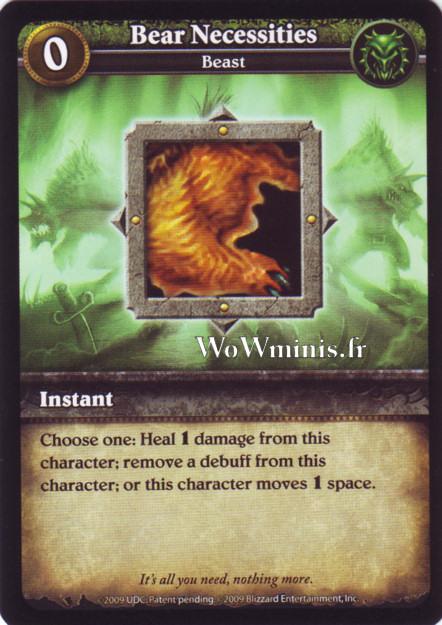 WoW Minis - Cartes à l'unité [Spoils of War] 06 - Bear Necessities [Cartes WOW minis: Spoils of War]